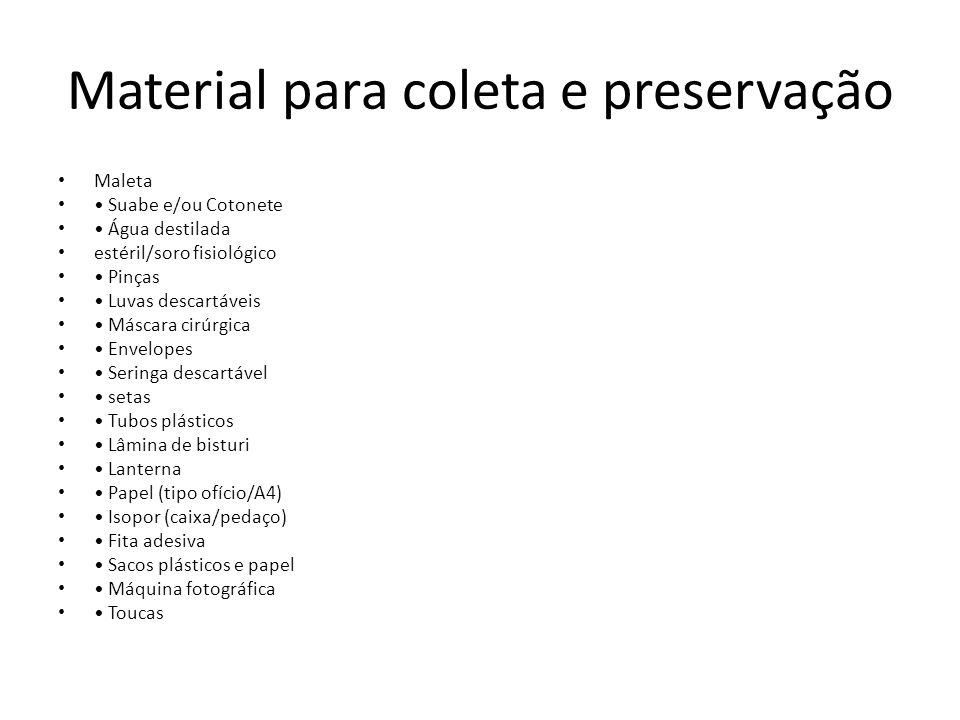 Material para coleta e preservação