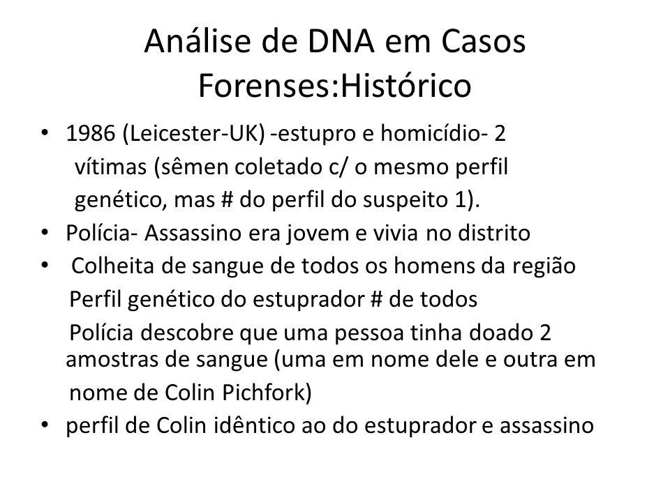 Análise de DNA em Casos Forenses:Histórico