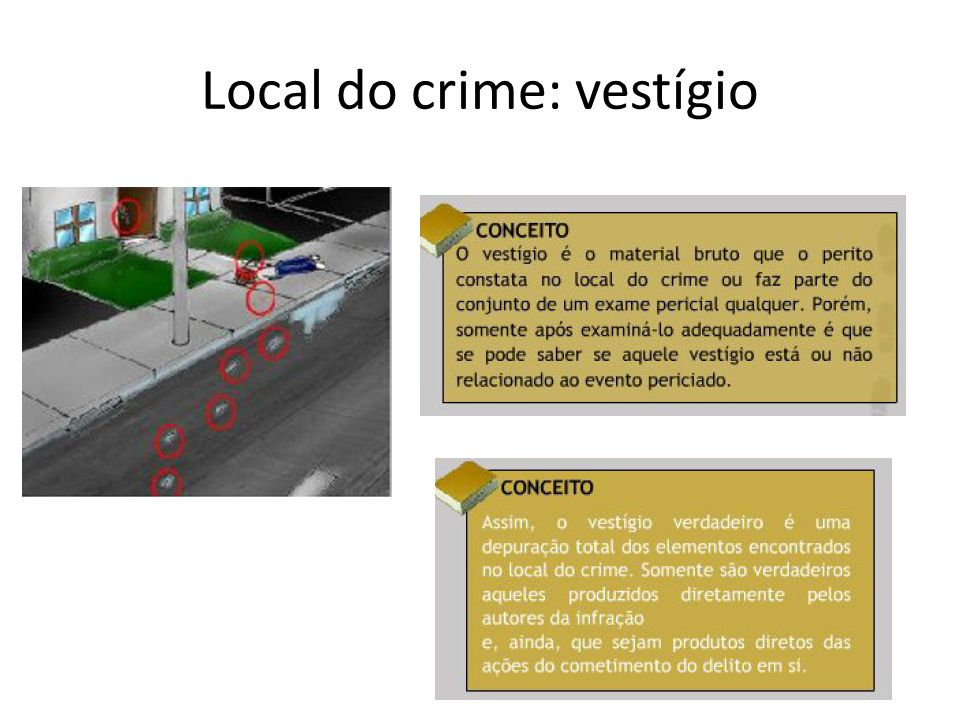 Local do crime: vestígio
