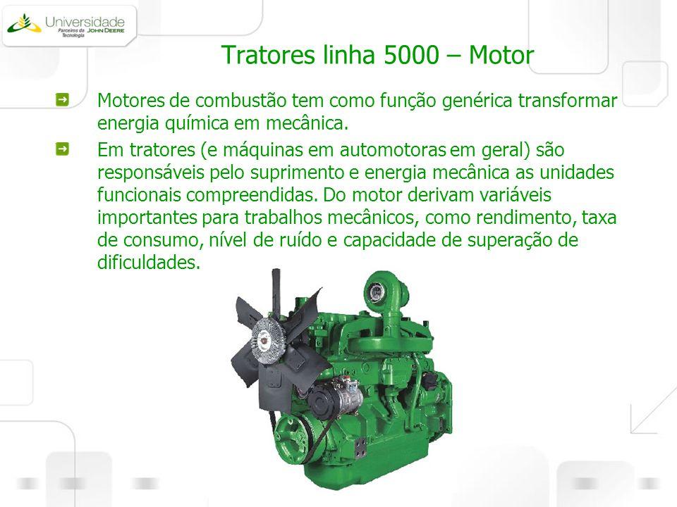 Tratores linha 5000 – Motor Motores de combustão tem como função genérica transformar energia química em mecânica.