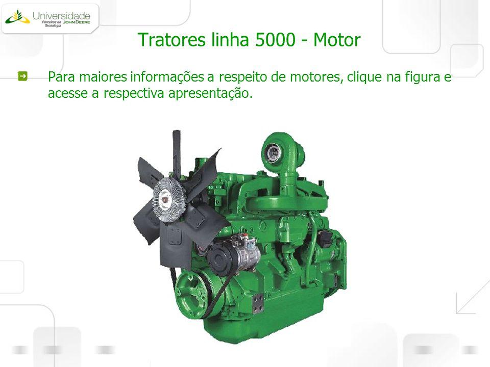 Tratores linha 5000 - Motor Para maiores informações a respeito de motores, clique na figura e acesse a respectiva apresentação.