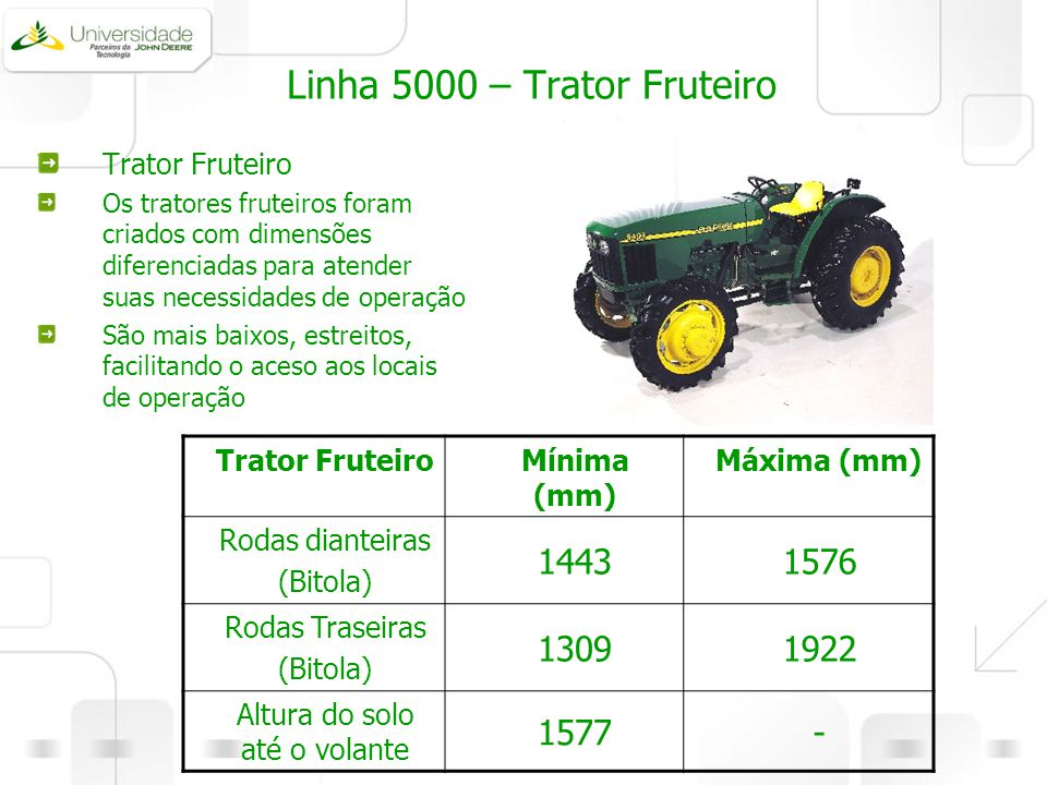 Linha 5000 – Trator Fruteiro