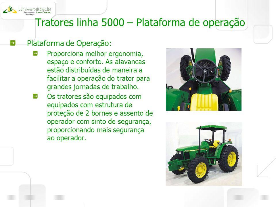Tratores linha 5000 – Plataforma de operação
