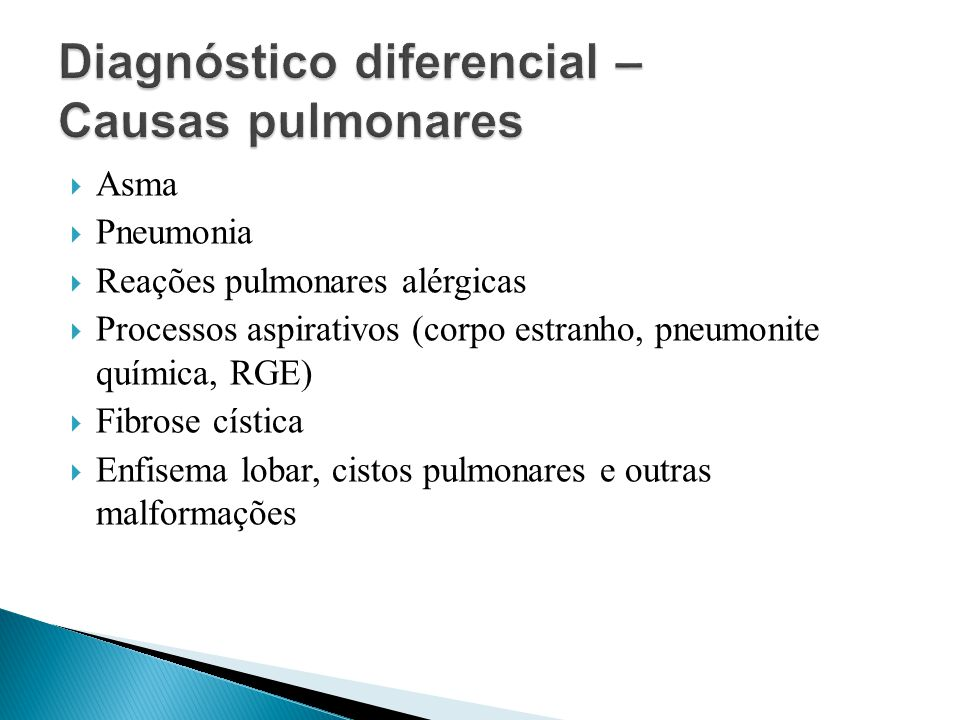 Diagnóstico diferencial – Causas pulmonares