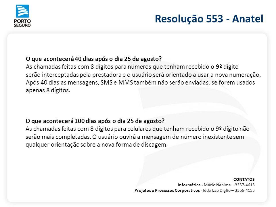 Resolução 553 - Anatel O que acontecerá 40 dias após o dia 25 de agosto