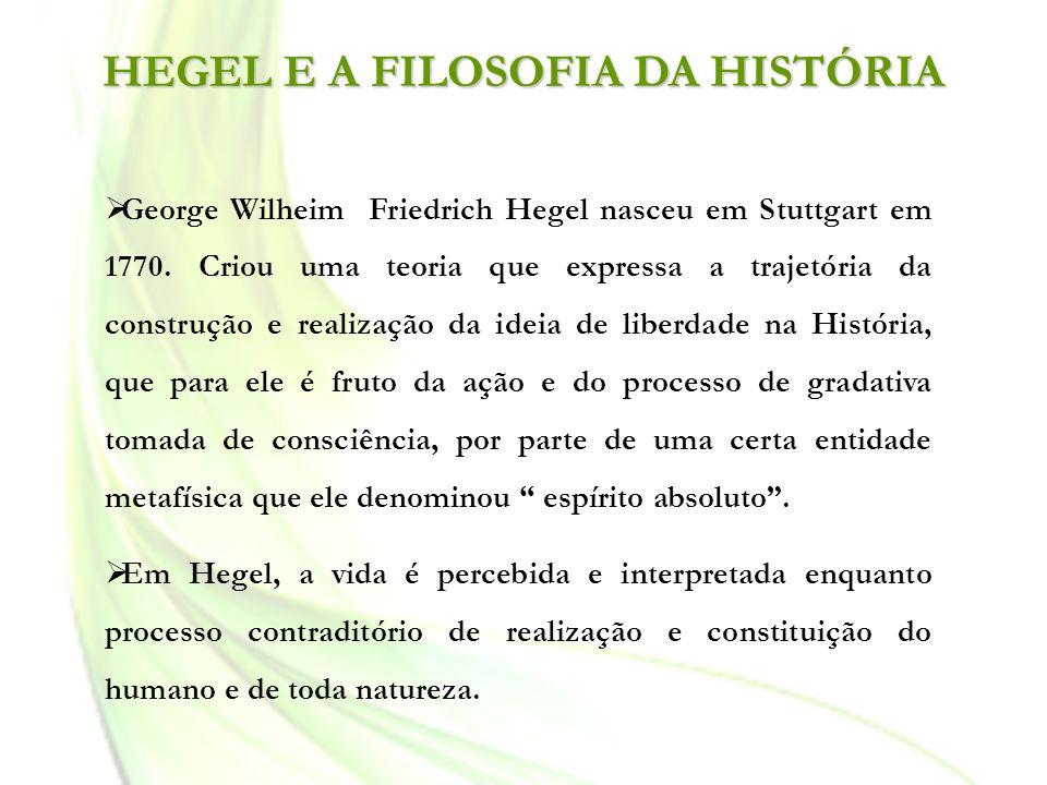 HEGEL E A FILOSOFIA DA HISTÓRIA