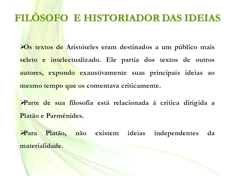 FILÓSOFO E HISTORIADOR DAS IDEIAS