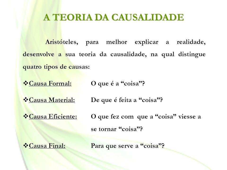 A TEORIA DA CAUSALIDADE