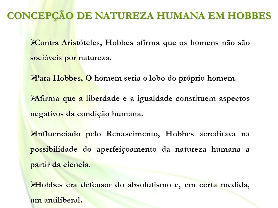CONCEPÇÃO DE NATUREZA HUMANA EM HOBBES