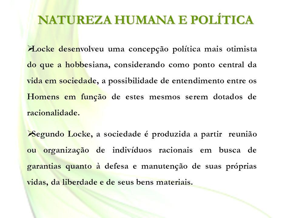 NATUREZA HUMANA E POLÍTICA
