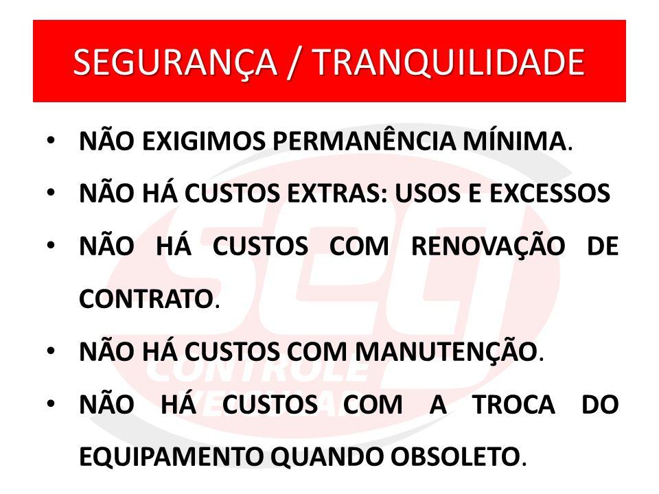 SEGURANÇA / TRANQUILIDADE