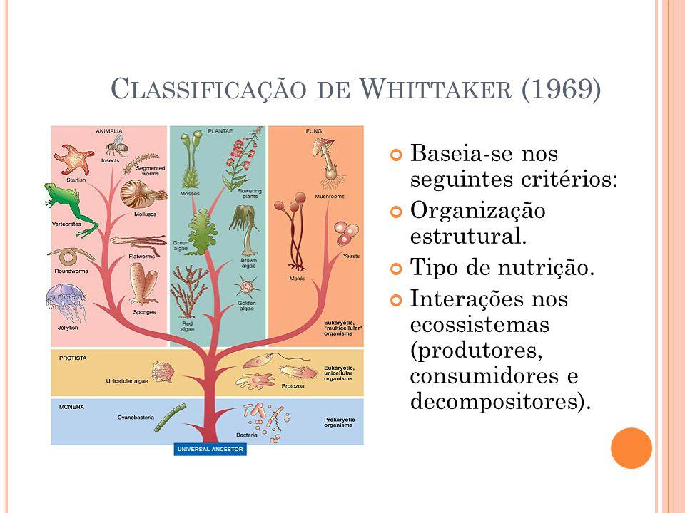 Classificação de Whittaker (1969)