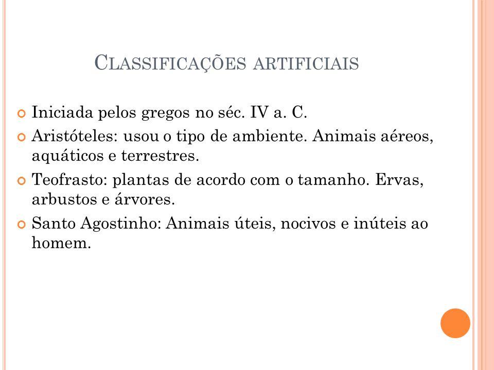 Classificações artificiais