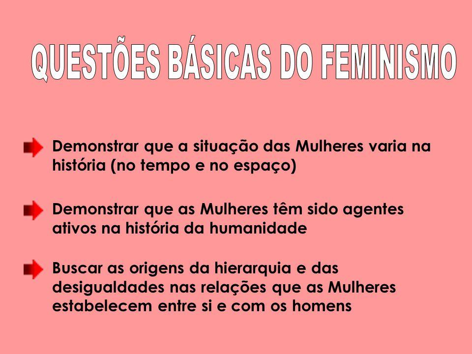 QUESTÕES BÁSICAS DO FEMINISMO