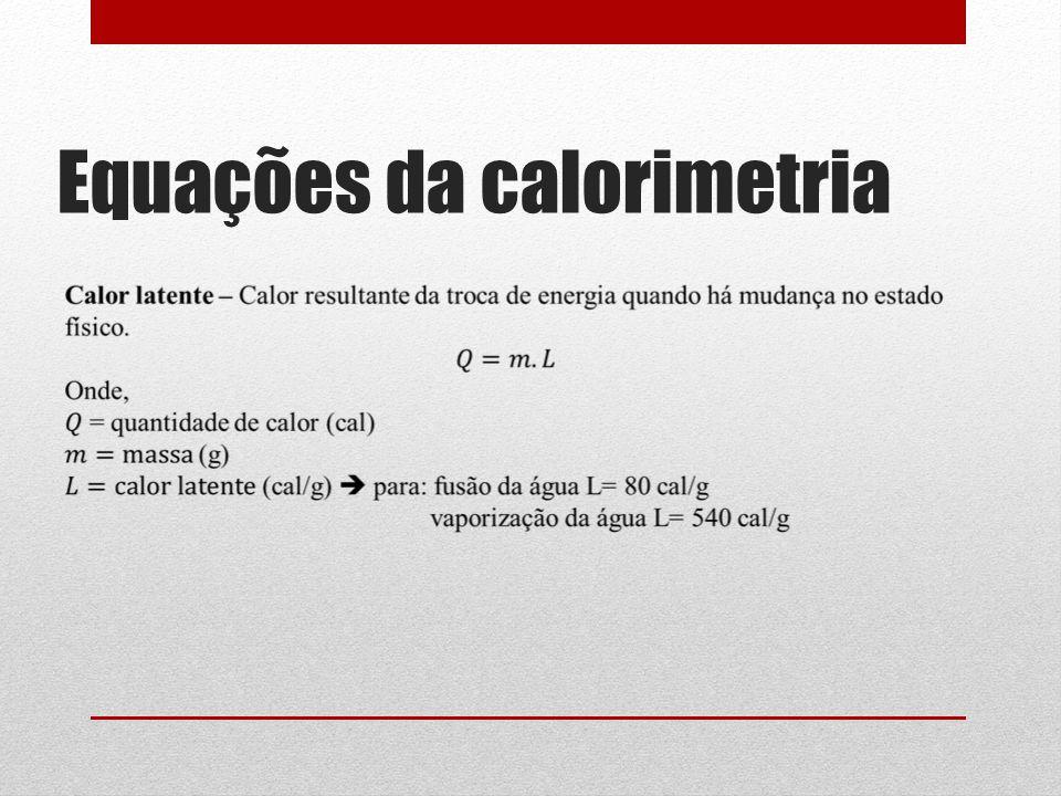 Equações da calorimetria