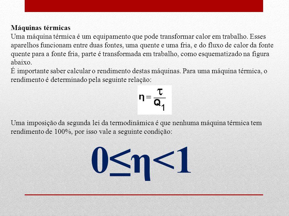 0≤η<1 Máquinas térmicas