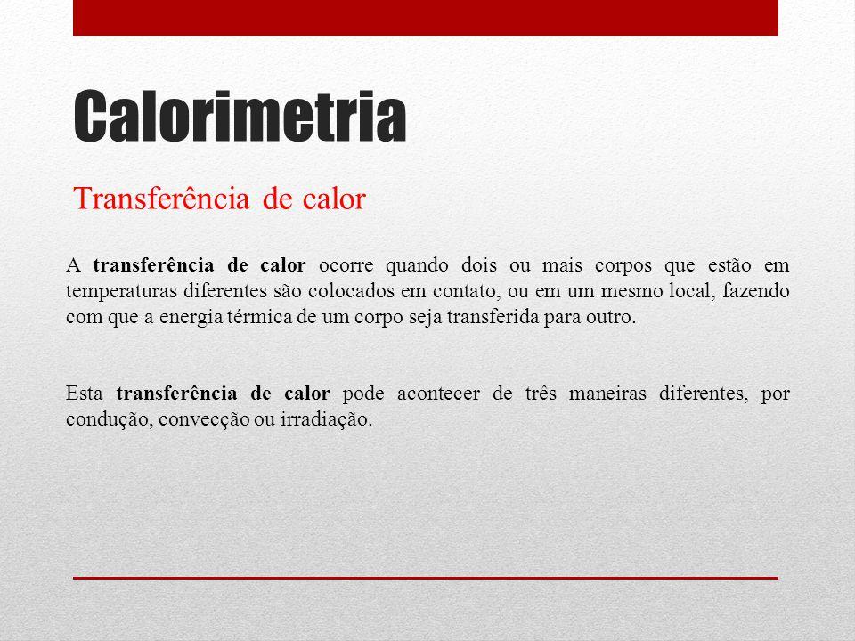 Calorimetria Transferência de calor