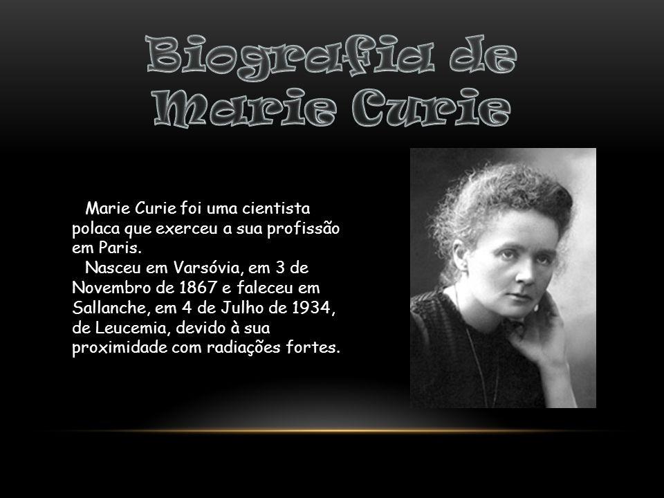 Biografia de Marie Curie