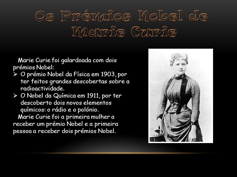 Os Prémios Nobel de Marie Curie
