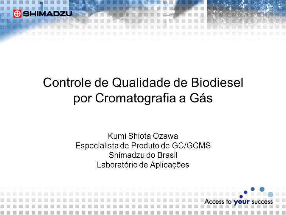 Controle de Qualidade de Biodiesel por Cromatografia a Gás