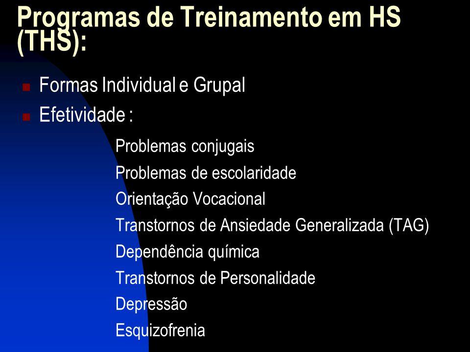 Programas de Treinamento em HS (THS):