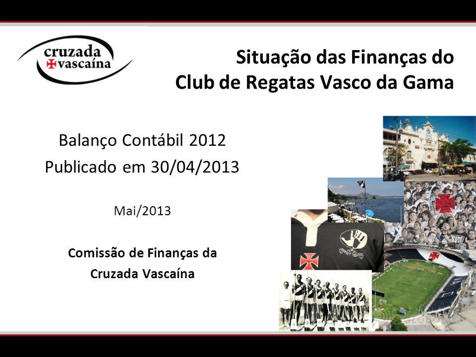 Situação das Finanças do Club de Regatas Vasco da Gama