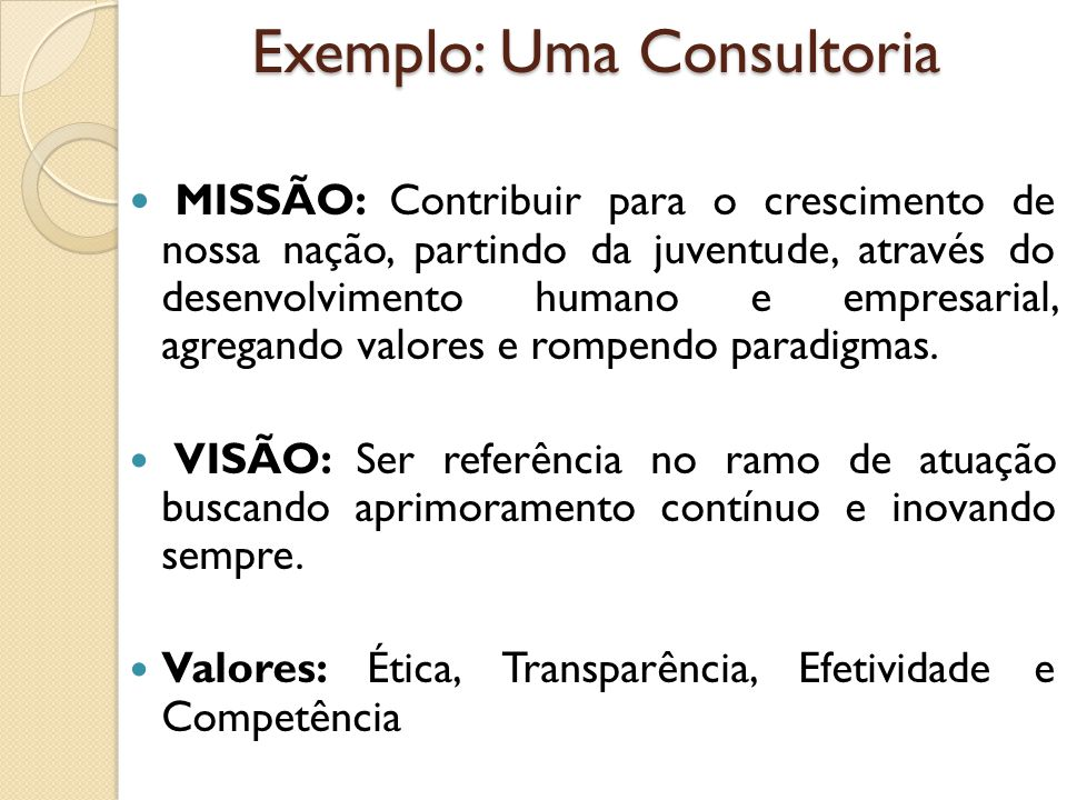 Exemplo: Uma Consultoria