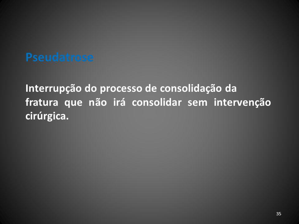 Pseudatrose Interrupção do processo de consolidação da