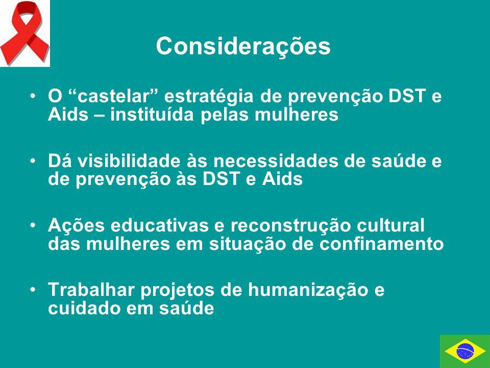 Considerações O castelar estratégia de prevenção DST e Aids – instituída pelas mulheres.