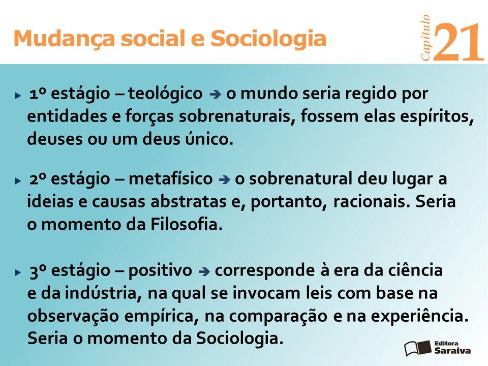 21 Mudança social e Sociologia Capítulo