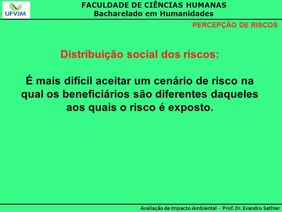 Distribuição social dos riscos: