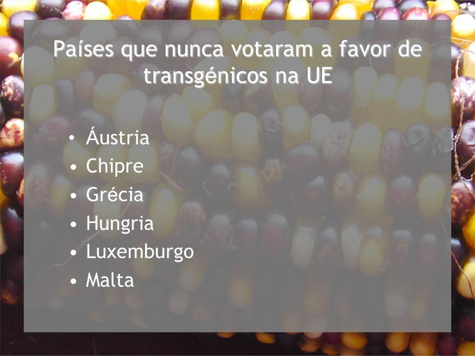 Países que nunca votaram a favor de transgénicos na UE