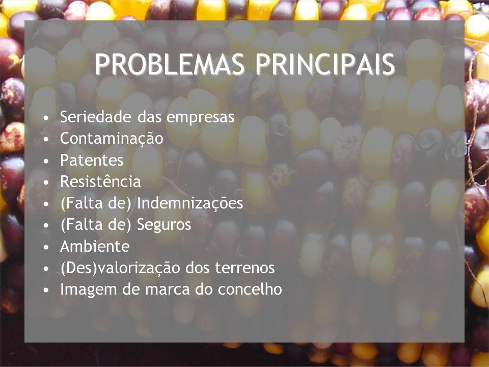 PROBLEMAS PRINCIPAIS Seriedade das empresas Contaminação Patentes