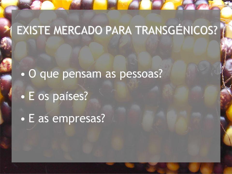 EXISTE MERCADO PARA TRANSGÉNICOS