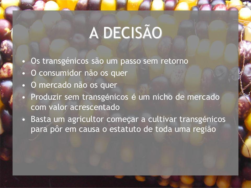 A DECISÃO Os transgénicos são um passo sem retorno