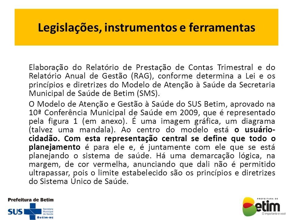 Legislações, instrumentos e ferramentas