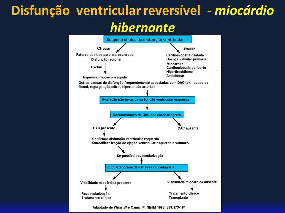 Disfunção ventricular reversível - miocárdio hibernante