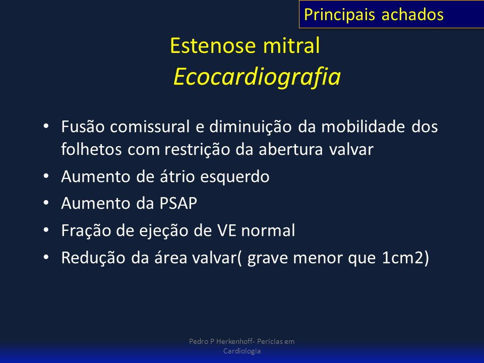 Estenose mitral Ecocardiografia