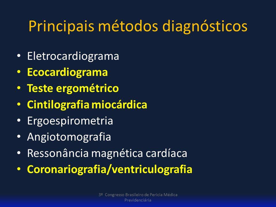 Principais métodos diagnósticos