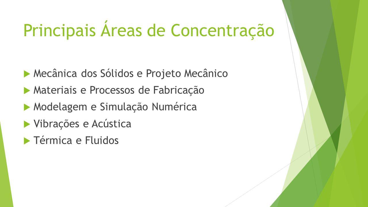 Principais Áreas de Concentração