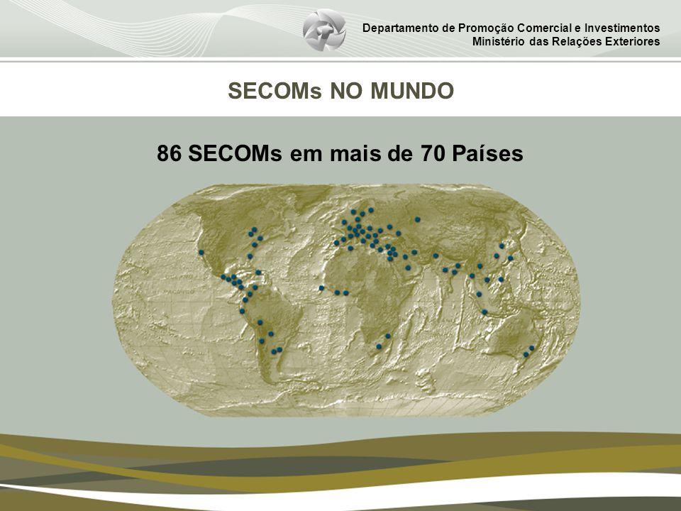 86 SECOMs em mais de 70 Países