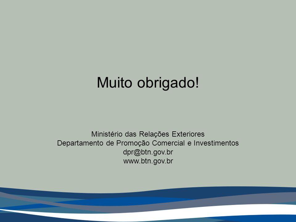 Muito obrigado! Ministério das Relações Exteriores