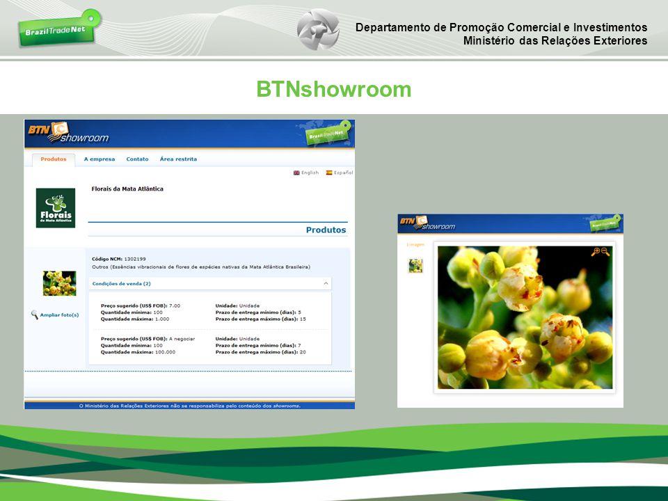 BTNshowroom Departamento de Promoção Comercial e Investimentos