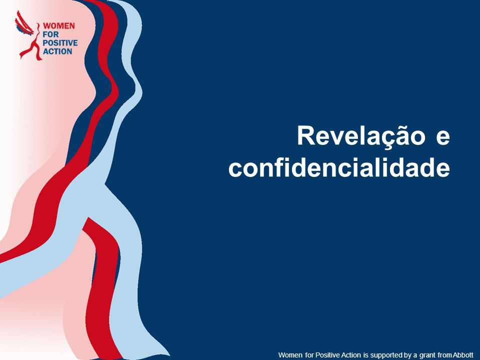 Revelação e confidencialidade