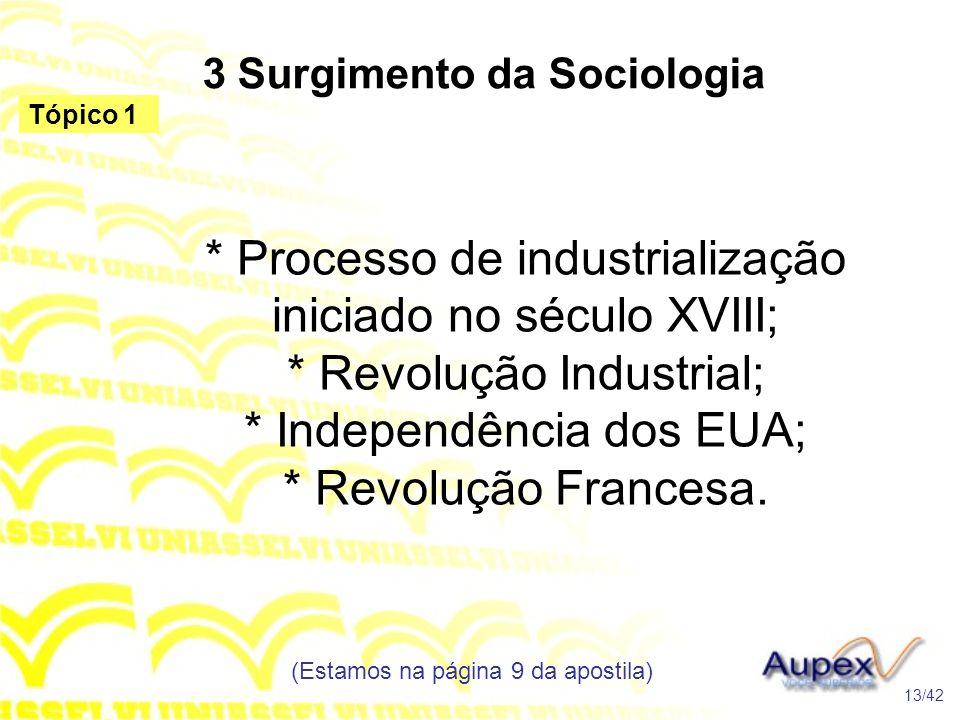 3 Surgimento da Sociologia