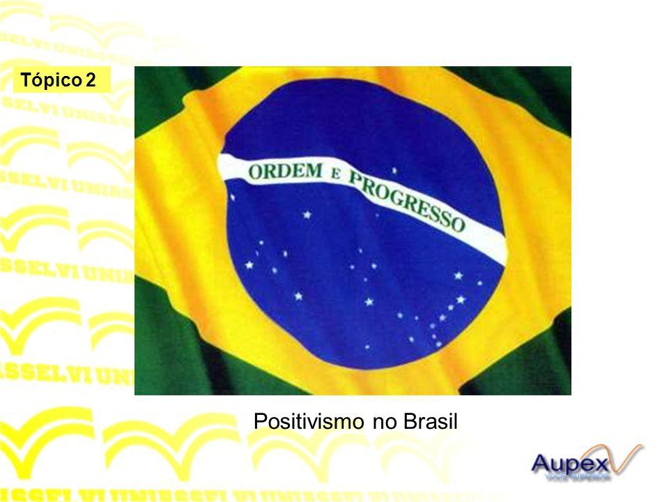 Tópico 2 Positivismo no Brasil