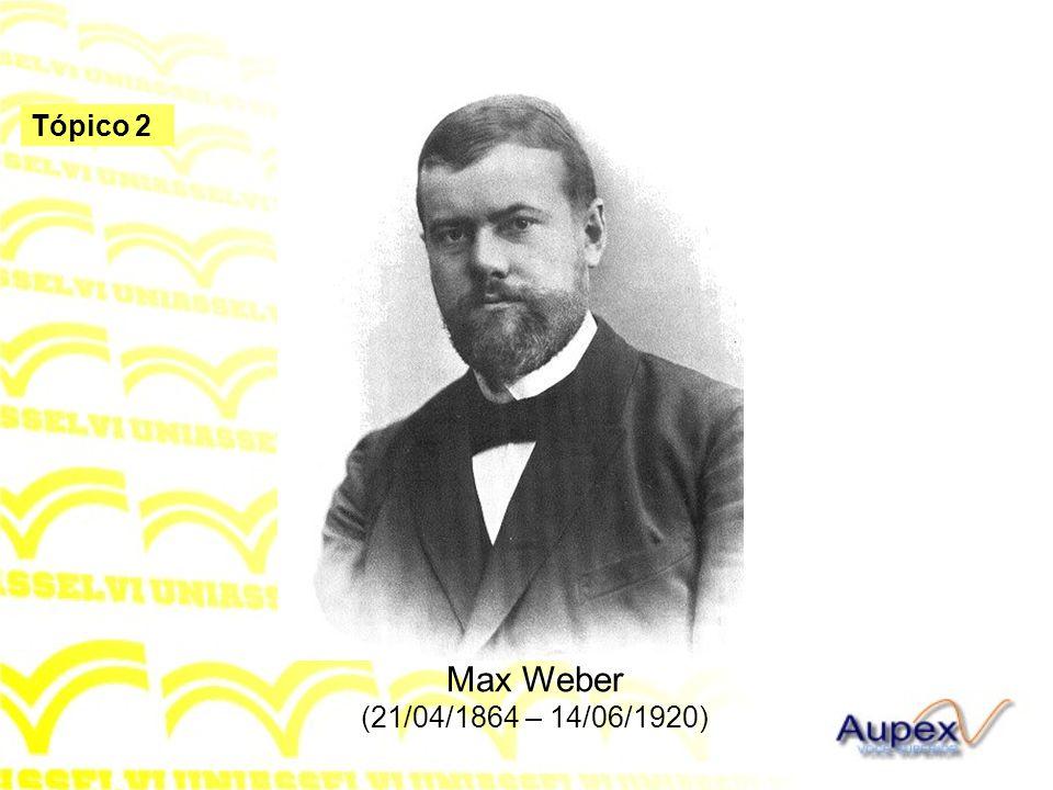 Tópico 2 Max Weber (21/04/1864 – 14/06/1920)