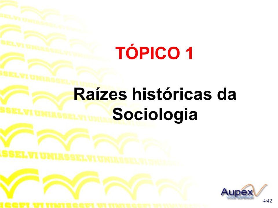 TÓPICO 1 Raízes históricas da Sociologia
