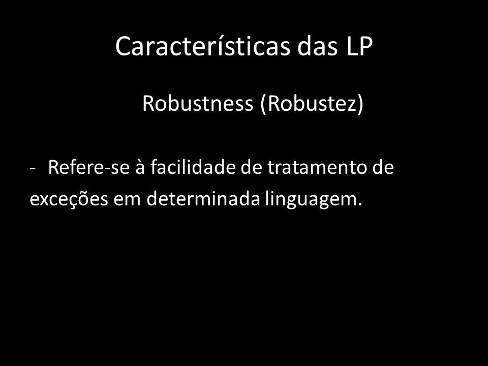 Características das LP