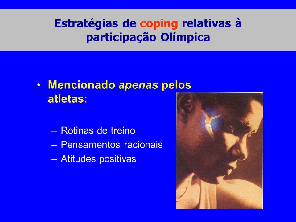Estratégias de coping relativas à participação Olímpica